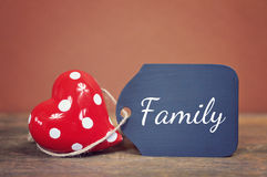 Family love. Lovely greeting card - family love Royalty Free Stock Photo