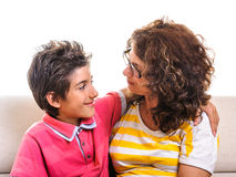 Family love mother boy Royalty Free Stock Images