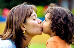 Family love - mother and son Royalty Free Stock Image