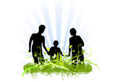 Family love ornaments design Royalty Free Stock Image