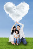 Family with love symbol Royalty Free Stock Photography