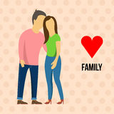 Family with love Stock Photography