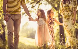 Family that loves nature royalty free stock photography