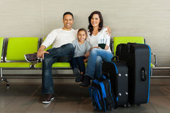 Family luggage airport Stock Photo