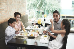 Family lunch royalty free stock photo