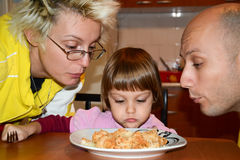 Family lunch spaghetti at home Stock Image