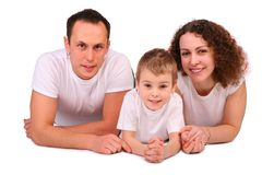 Family lying royalty free stock photos