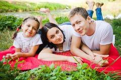 Family lying Royalty Free Stock Photos