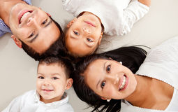 Family lying down Stock Photos