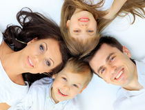 Family lying down Stock Photo