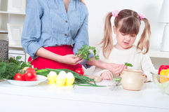 Family make meal Stock Image