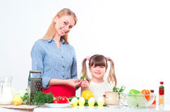 Family make meal Royalty Free Stock Photos