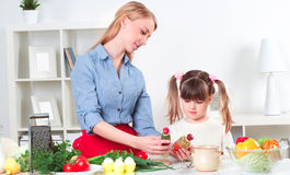 Family make meal Royalty Free Stock Image