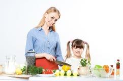 Family make meal Stock Photos