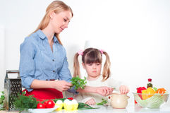 Family make meal Royalty Free Stock Images