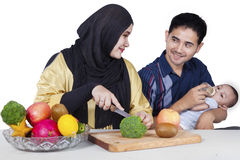 Family Makes Healthy Superfood Stock Photo