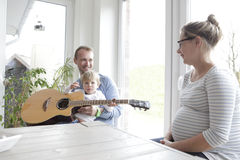 Family makes music Royalty Free Stock Photography