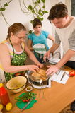 The family makes a supper. Stock Image