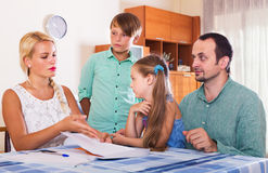 Family making customer complaints Stock Photos