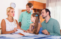 Family making customer complaints Stock Images