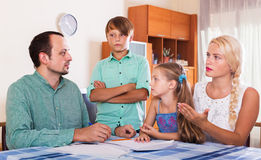 Family making customer complaints Royalty Free Stock Image