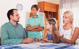Family making customer complaints Royalty Free Stock Photography