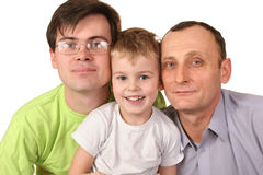 Family male dynasty. Father grandfather son Royalty Free Stock Image