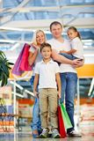 Family in the mall Royalty Free Stock Photo