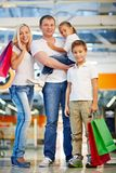 Family in mall Stock Image
