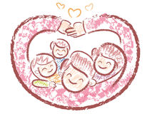 Family Mascot love gesture. Home and Family Character Design Ser Stock Image