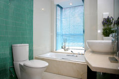 Family master bedroom toilet Stock Images