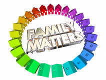 Family Matters People Relatives Relationships. 3d Illustration.jpg Royalty Free Stock Images