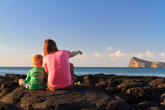 Family in Mauritius Royalty Free Stock Images