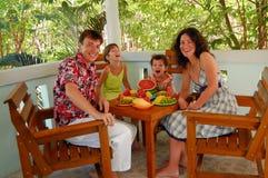Family meal Stock Photos