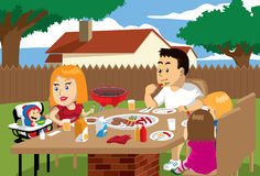 Family Meal Time Outdoor Royalty Free Stock Photography