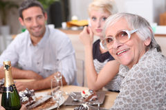 Family meal royalty free stock images