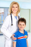 Family medical doctor and a child Stock Image