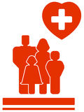 Family medical symbol Stock Photo