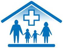 Family medicine icon Stock Photos