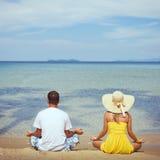 Family meditation Stock Images