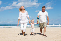 Family in the Mediterranean Royalty Free Stock Photos