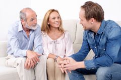 Family meeting Royalty Free Stock Images