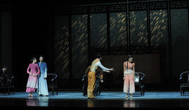 A family meeting-The second act of dance drama-Shawan events of the past. Guangdong Shawan Town is the hometown of ballet music, the past focuses on the Royalty Free Stock Photos