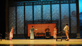 A family meeting-The second act of dance drama-Shawan events of the past. Guangdong Shawan Town is the hometown of ballet music, the past focuses on the Stock Photos