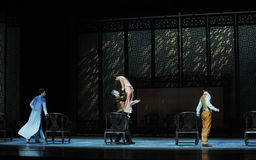 A family meeting-The second act of dance drama-Shawan events of the past. Guangdong Shawan Town is the hometown of ballet music, the past focuses on the Stock Photo