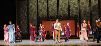 A family meeting-The second act of dance drama-Shawan events of the past. Guangdong Shawan Town is the hometown of ballet music, the past focuses on the Royalty Free Stock Image