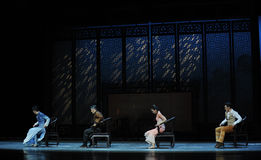 A family meeting-The second act of dance drama-Shawan events of the past. Guangdong Shawan Town is the hometown of ballet music, the past focuses on the Stock Photography