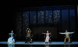 A family meeting-The second act of dance drama-Shawan events of the past. Guangdong Shawan Town is the hometown of ballet music, the past focuses on the Royalty Free Stock Photography