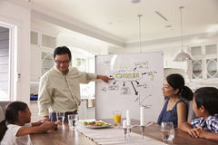 Family Meeting To Discuss Household Chores stock photos