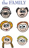 Family members. On white background. vector image Stock Photography